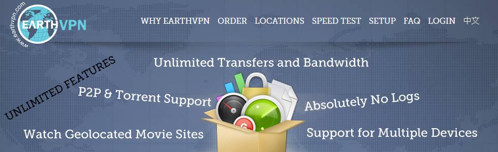 Der VPN Dienst EarthVPN
